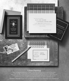 Monochromatic refresh of our Lincoln Stationery Collection. Gabel, Martha Stewart Weddings, Urban Planning, Stationery, Cards Against Humanity, Lincoln, Prints, Beautiful, Design
