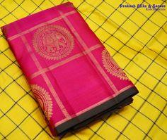 Cotton Saree Blouse Designs, Saree Tassels Designs, Silk Cotton Sarees, Prakash Silks Kanchipuram, Silk Saree Kanchipuram, Crepe Saree, Organza Saree, Lakshmi Sarees, Kanjipuram Saree