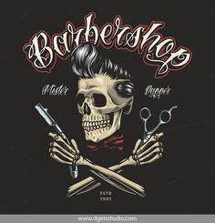 Old school style colorful Barber Shop emblem with barber holding scissors and a Barber Tattoo, Barber Logo, Barber Poster, Barber Shop Interior, Barber Shop Decor, Desenhos Old School, Vector Design, Logo Design, Design Design