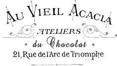 Iron on Image - French Typography Printable - Bijouterie - The Graphics Fairy Flower Typography, French Typography, Vintage Typography, French Cursive, Decoupage, Creta, Triomphe, Graphics Fairy, Funny Tattoos