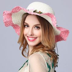 Himanjie New Cute women big brim sun hats beach hand made straw hat casual  shade hat summer Bow tie UV Protection Breathable cap-in Sun Hats from Men s  ... 8bc6917863c3
