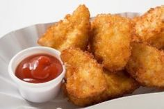 chicken nuggets with almond or rice flour.