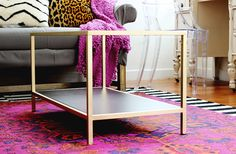 (a simple black IKEA table set spray painted gold) DIY nesting table: http://www.stylemepretty.com/living/2015/02/23/diy-nesting-coffee-table-ikea-hack/   DIY: Classy Clutter - http://www.classyclutter.net/