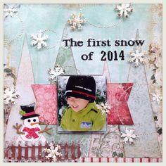 #スクラップブッキング#miyuchiさん#Bluefernstudios#scrapbooking#12インチ miyuchiさんのスケッチサイトに参加します。 去年の雪の日の写真です。