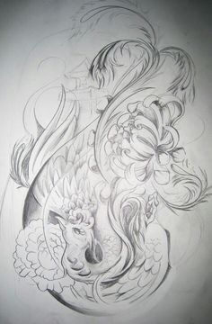 Inspiration for my Japanese Body Art design the Japanese Phoenix...