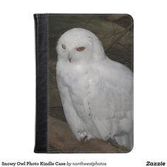 Snowy Owl Photo Kindle Case