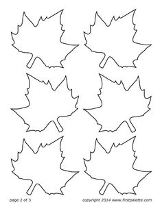Download and Print this FREE Fall Leaves Printable