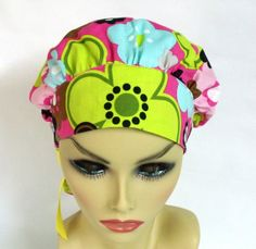 Womens Bouffant  Surgical Scrub Hat or Cap Roly by ScrubsbyEdie, $16.00