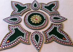 what is Kundan Rangoli Rangoli Ideas, Diwali Decorations, Brooch, Pearls, Google Search, Jewelry, Gallery, Bag, Photos