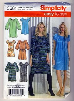 Simplicity 3681 Misses Easy to Sew Dress 2 by Noahslady4Patterns