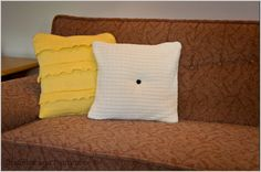 From: Curbly - tutorial on how to make throw pillows using  old sweaters