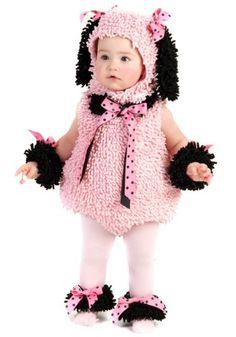 Pink Poodle Infant/Toddler Halloween Costume #Pink #Poodle #Infant_Toddler #Halloween #Costume