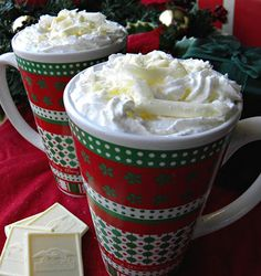 GOTTA TRY THIS!!!!  A Copycat Starbucks White Chocolate Mocha that Elf would Love by Cleo CoyleMysteryLoversKitchen.com