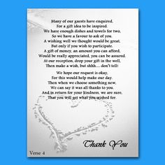 Wedding Gift List Verses : Wedding Money Gift Voucher Poem Cards For Invites A7 or A6 Beach Heart ...