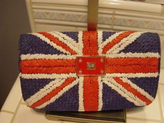 ANYA HINDMARCH RARE UNION JACK STRAW CLUTCH BAG - NEW - RARE!! #AnyaHindmarch #Clutch