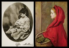 Effie Millais/James in Red Riding Hood 1865 by John Everett Millais, photo by Charles Lutwidge Dodgson (Lewis Carroll) 20th July 1865