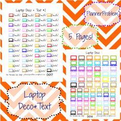 Decorative Laptop Stickers! | Free Printable Planner Stickers from PlannerProblem.wordpress.com. Download for free at  https://plannerproblem.wordpress.com/2016/07/05/laptop-deco-free-printable-planner-stickers/