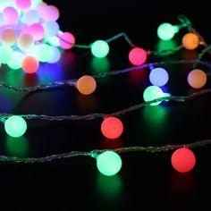 Guirnalda de navidad Luces de la Secuencia 5 m 50 led Impermeable de la CA 220 v-240 v Led RGB Luz de la Secuencia Bola bombilla + Enchufe de LA UE(China (Mainland))