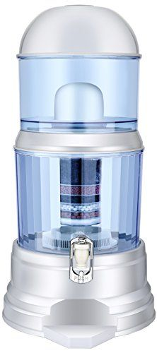 LeDoux Water Filter Dispenser -64 Cup Large 4 Gallon Countertop Pitcher Filter System Transform Tap Water to Premium Crystal Clear Alkaline Mineral Drinking Water -Exclusive 8 Step Purification System. 8 STEP WATER PURIFICATION SYSTEM: The clear choice in water is here. Ledoux's 8 chamber water filter is the next evolution in water purification. Our unsurpassed filtering process gives you crystal clear purity and premium taste. IONIZED ALKALINE AND MINERAL FILTRATION: The Ledoux's multi…