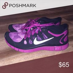 Nike Free Purple and black nike free size 10. Good as new. Nike Shoes Sneakers