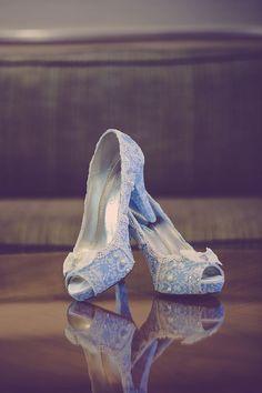 """Something blue"" Cinderella princess inspired bridal heels"