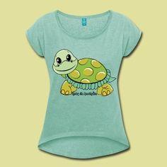 Herby Sportkröte - Frauen T-Shirt mit gerollten Ärmeln