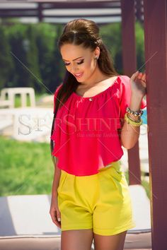 PrettyGirl Touchy Yellow Short