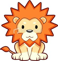 this artist depicst lions fur to be overly spiky and they always have a blank look on their faces
