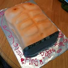 bachelorette ideas. I SO want this for my cake, with piping like chest hair too! :D