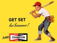 Plan59 :: 1950s Billboard Illustration :: Champion Spark Plugs, 1952