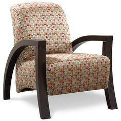 The Aquino Accent Chair Will Make Quite Statement In Any Room With Wood Exposed Arms
