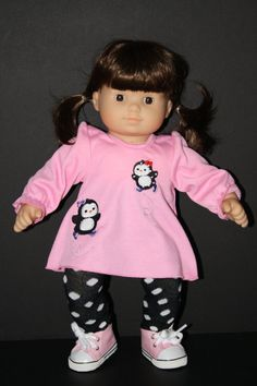 AMERICAN GIRL Bitty Baby 15 Doll Penguin Shirt with by weeline, $22.50