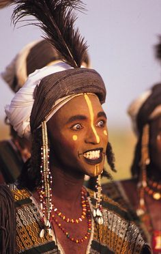Africa | Portrait of a Wodaabe man participating in the Yaake dance during the Gerewol festival. Niger | ©Michel Renaudeau