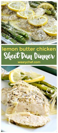 This light and fresh tasting Lemon Butter Chicken Sheet Pan Meal is just right for dinner any time! Quick prep and bake time means you can get it on the table in a hurry!