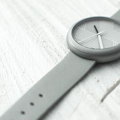 http://objest.com Objest Hach Watch - Silver case, grey leather strap. Swiss Made, 40 mm case, 50m water resistance 2 year warranty £279