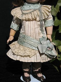 French Silk Doll Dress Hat for Antique Dolls | dress doll clothes outfit costumes