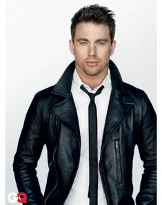 SICK leather jacket. Dig the plain and simple black & white.