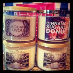 Fall candles from bath and body works!