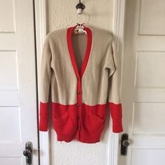 Fossil Cardigan Size small color block cardigan from Fossil! 10/10 condition very cozy Fossil Jackets & Coats