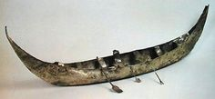 Silver boat model. Several boat models were found in the Royal Tombs. They were often loaded with small containers, as if carrying provision.of the dead.This boat model is from PG 789,the King's Grave From The Royal Tombs of Ur