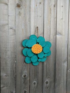Whimsical Handpainted Log Slice Flower Wall by logslicesbymargie