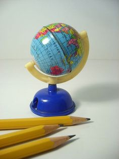 Globe pencil sharpener My Childhood Memories, Great Memories, School's Out Forever, Old Globe, Nostalgia, Pencil Sharpener, My Memory, Cartography, Old Toys