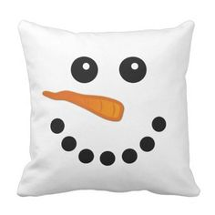Shop Cute and Funny Snowman Face Festive Pillow created by maylilly. Funny Pillows, Cute Pillows, Kids Pillows, Throw Pillows, Funny Snowman, Snowman Faces, Cute Snowman, Christmas Cushions, Christmas Pillow