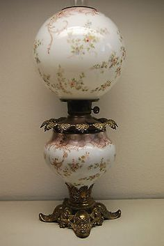 Pittsburgh Success Gwtw Iris Oil Lamp Banquet Phoenix Consolidated