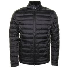 Barbour International Mens Black Hartwell Baffle Quilted Jacket