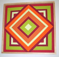 Barn+Quilt+Patterns+to+Paint | Quilted Barn Trail: Fiesta Quilt Square Pattern Craft Painting on ...