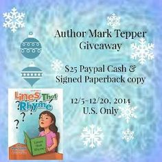 Enter to #win $25 in PayPal cash plus a signed copy of the children's book Lines That Rhyme by Mark Tepper! #Giveaway ends December 19.