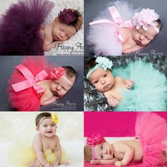 Cool Baby Girl TUTU Skirts Flowers Headband Infants Skirts Suits Photography Ribbon Bow Ball Gown Girls Headband + Skirt KD448 - $16.86 - Buy it Now!