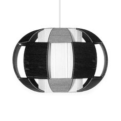 Globen Linda Pendant: The Linda pendant by Swedish lighting brand Globen is made with a metal frame with silk thread combining the bars. It has a retro feel, yet fits beautifully in a contemporary home.