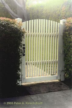 Wooden Garden Gates for Sale | Cottage Style Curved Garden Gate Cottage Entry Gate